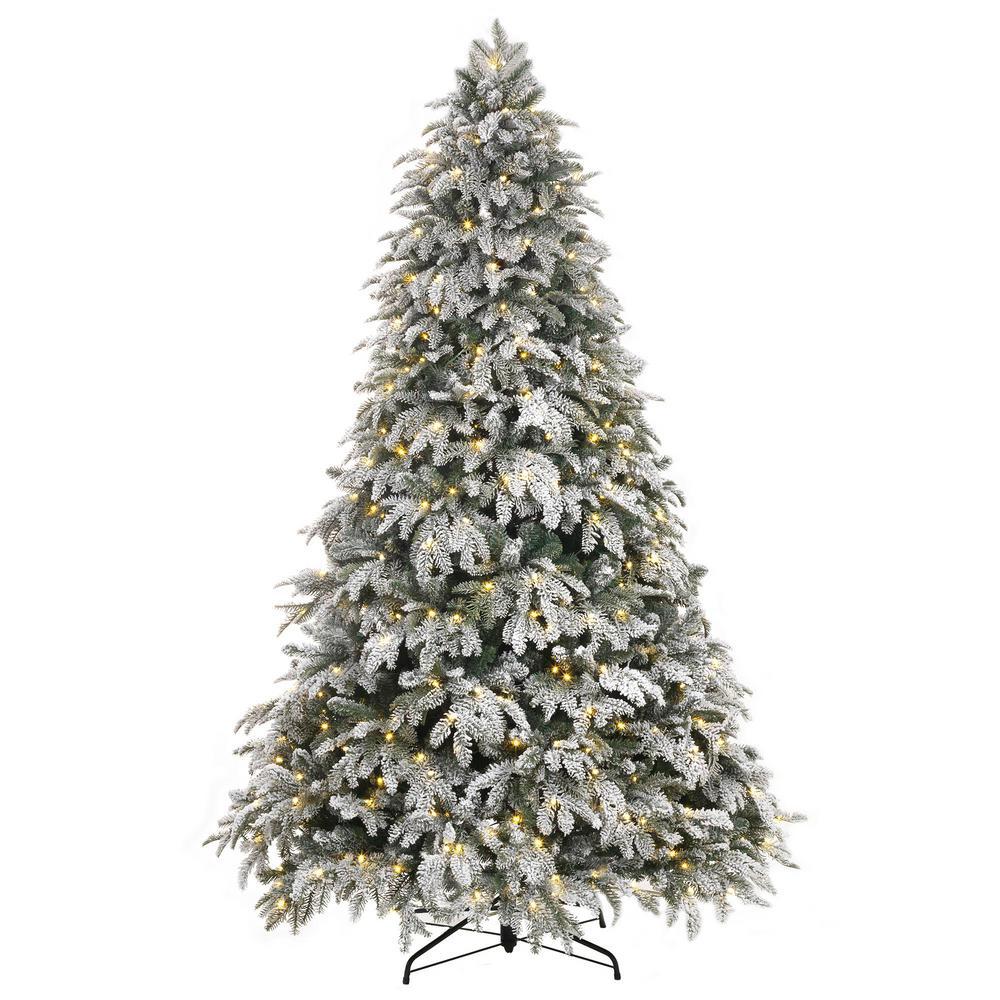 Pre Lit Flocked Christmas Tree
