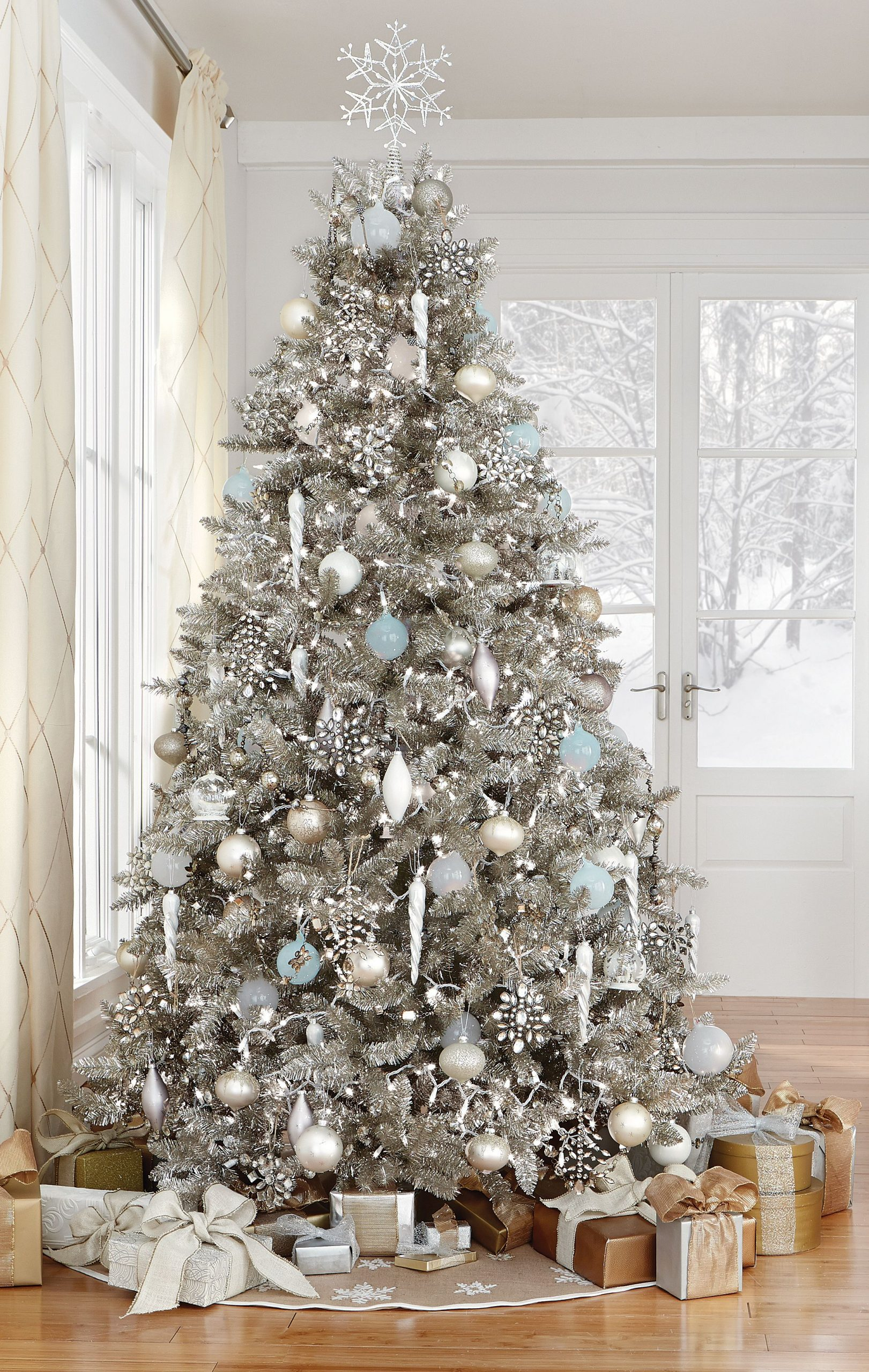 Silver Christmas Tree Decorations