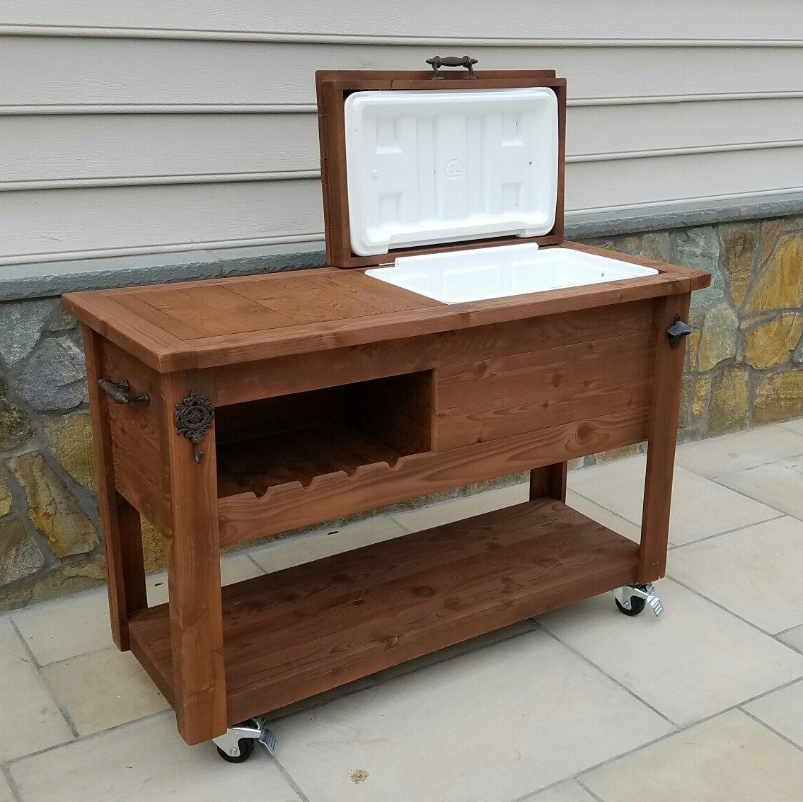 Outdoor Bar Cart With Cooler