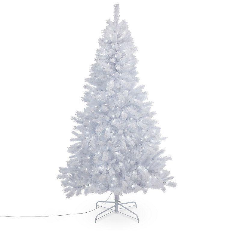White Pre Lit Christmas Tree