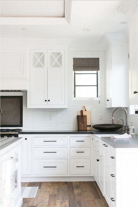 White Kitchen Black Hardware