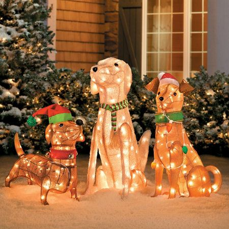 Outdoor Christmas Dog Decorations