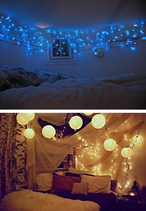 Christmas Lights In Bedroom