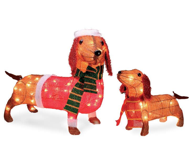 Dachshund Outdoor Christmas Decorations