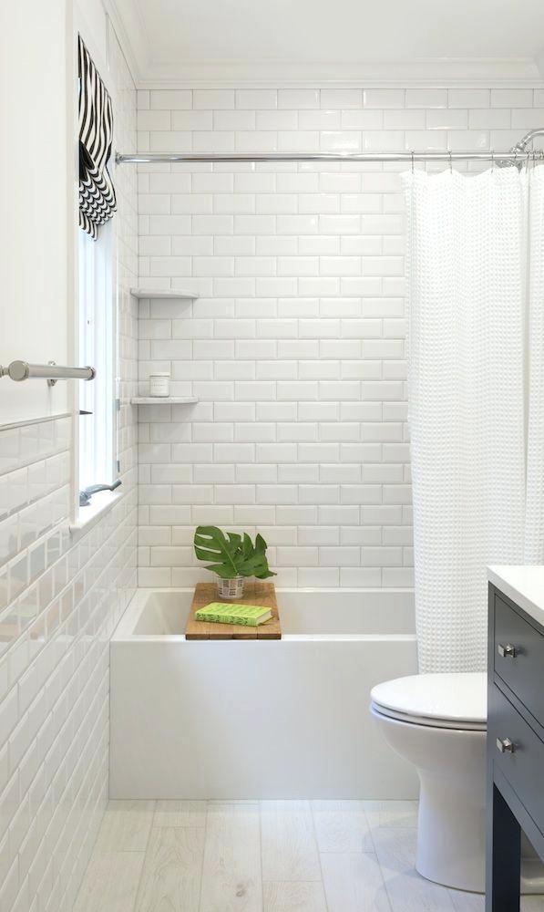 White Subway Tile Bathroom