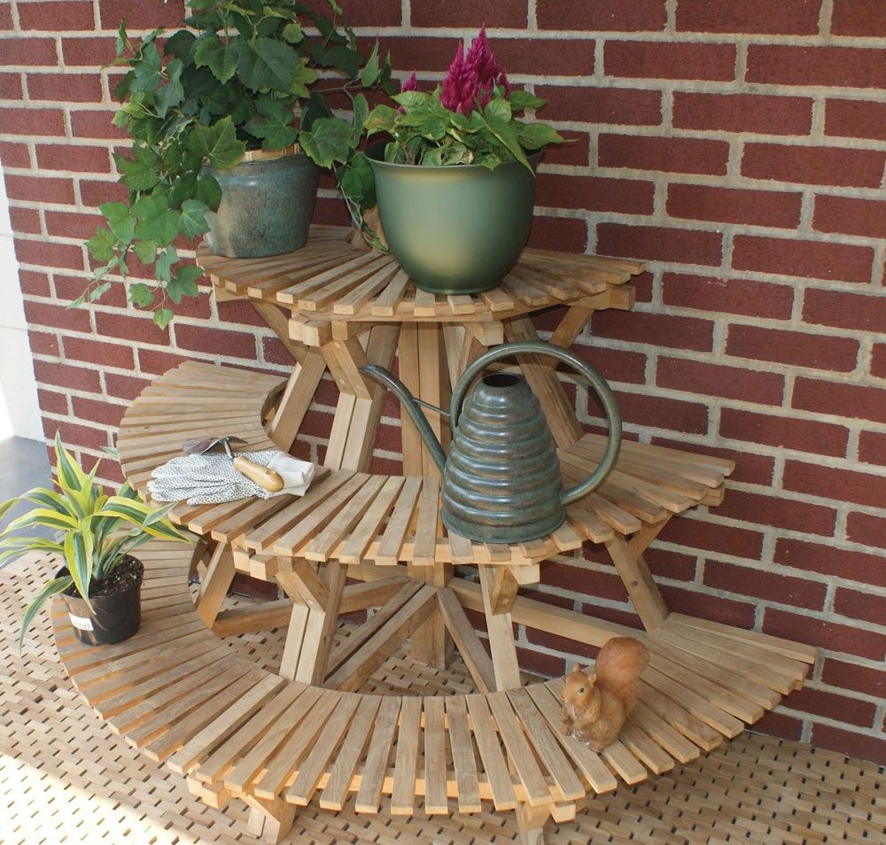 Outdoor Corner Plant Stand