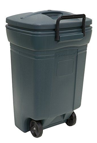 Outdoor Trash Can With Wheels