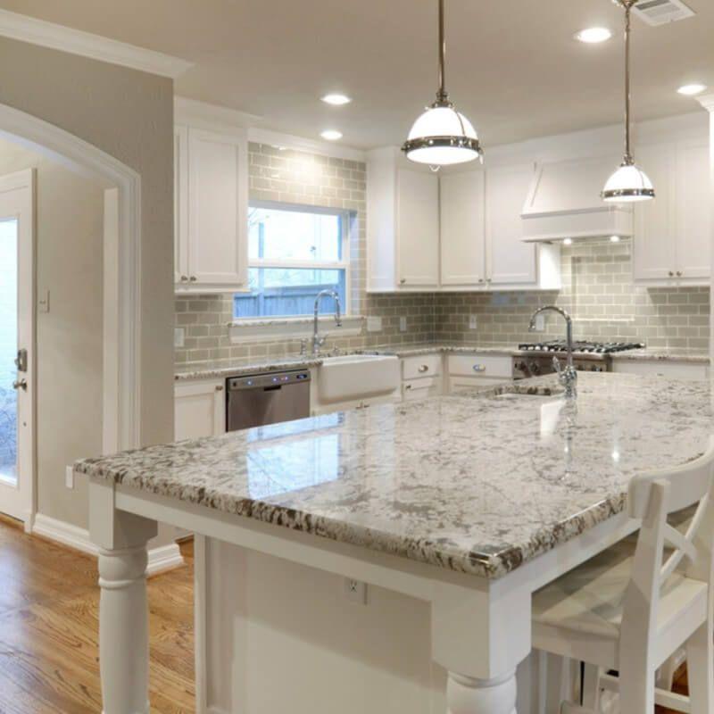 White Granite Kitchen Countertops