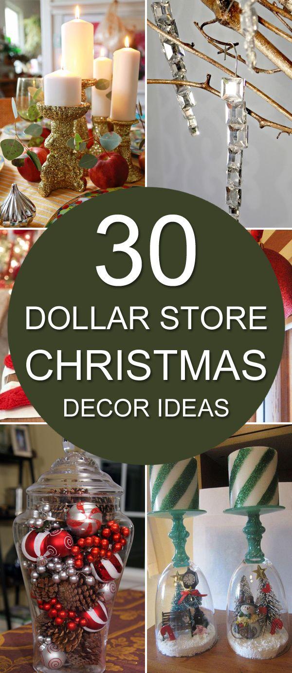 Dollar Store Christmas Decorations