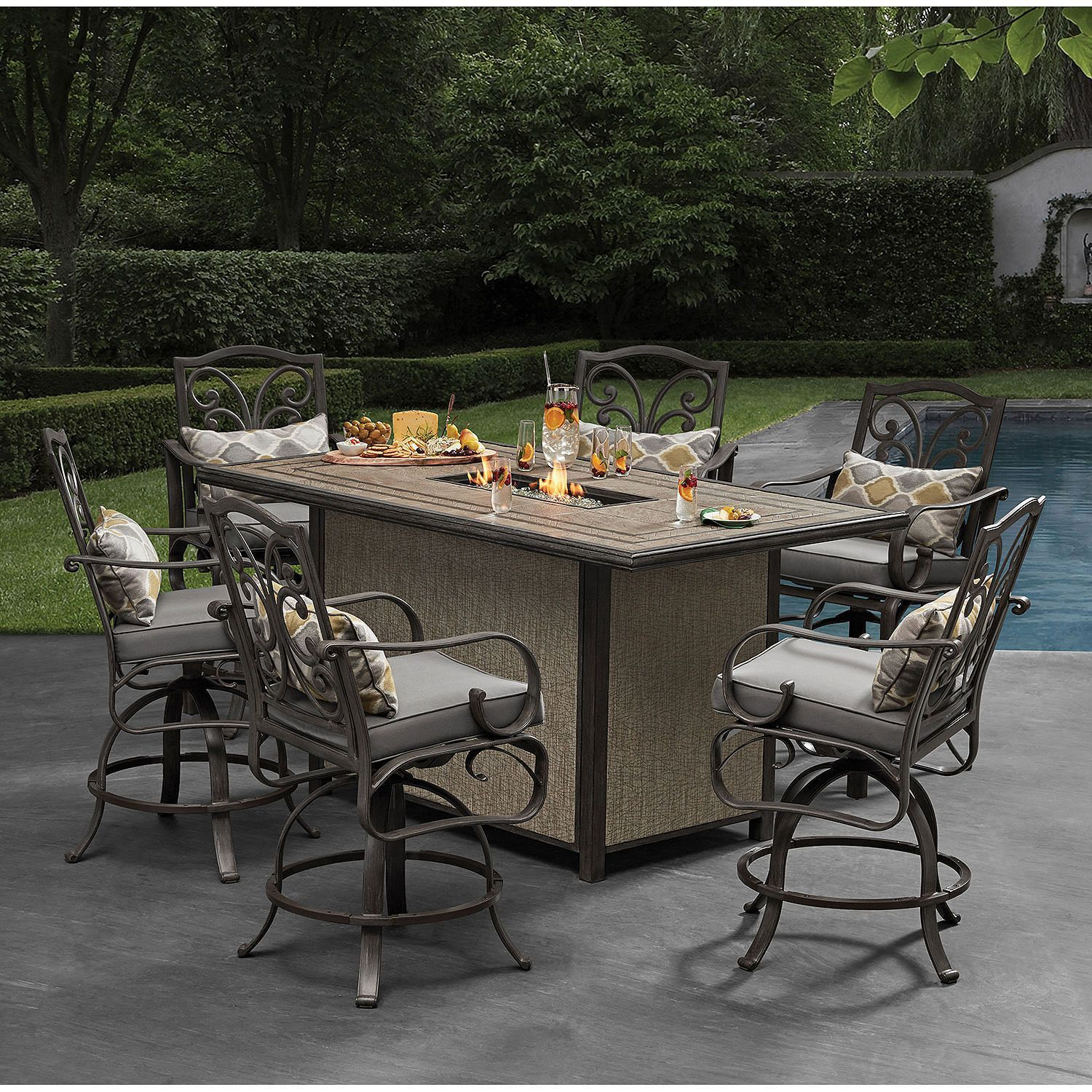 Bar Height Outdoor Dining Set