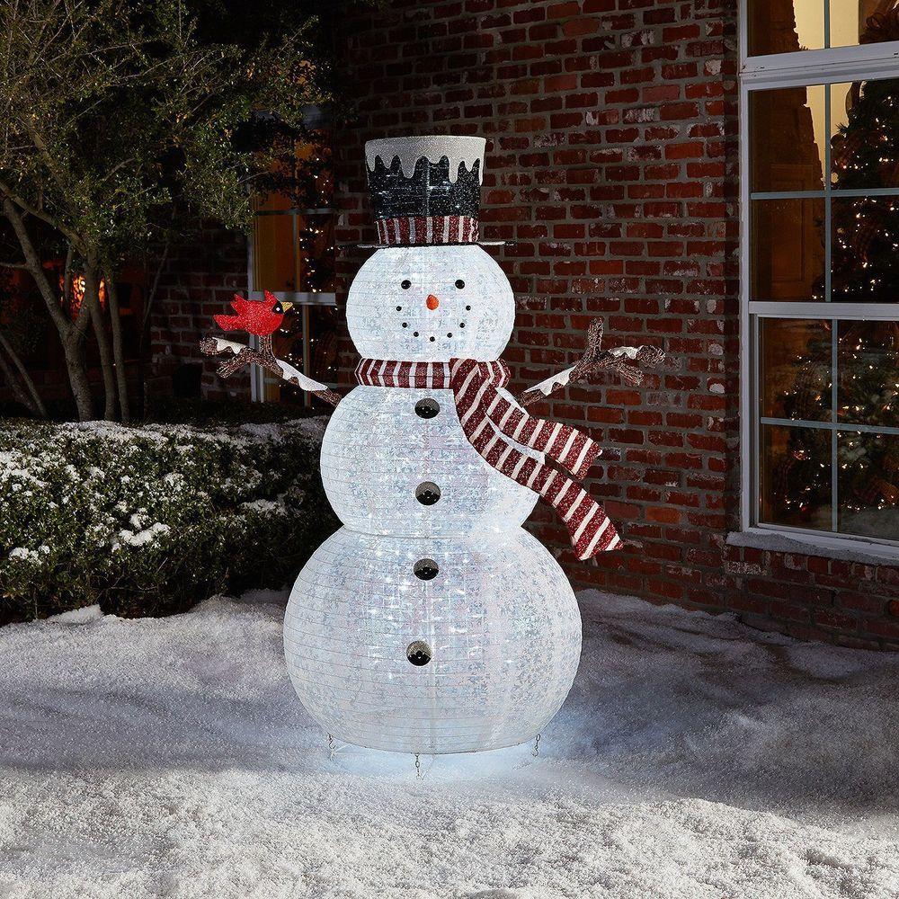 Outdoor Light Up Snowman