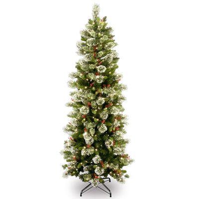 Slim Pre Lit Christmas Tree