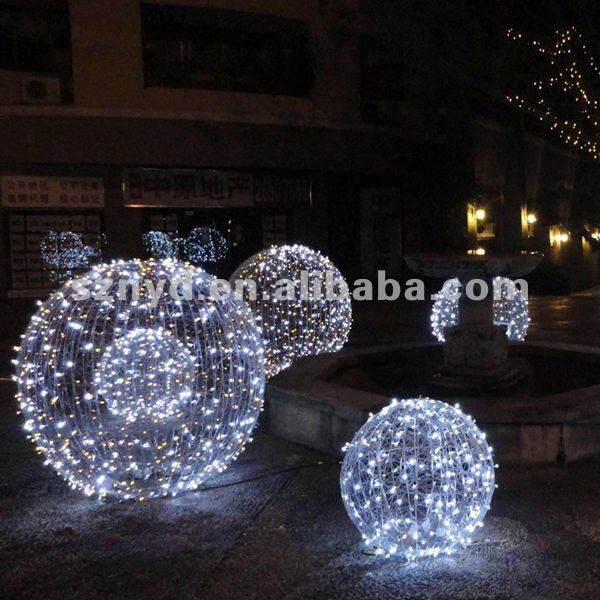 Large Outdoor Lighted Christmas Balls