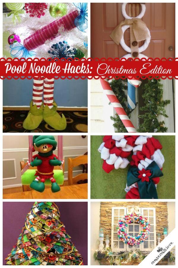 Pool Noodle Christmas Decorations