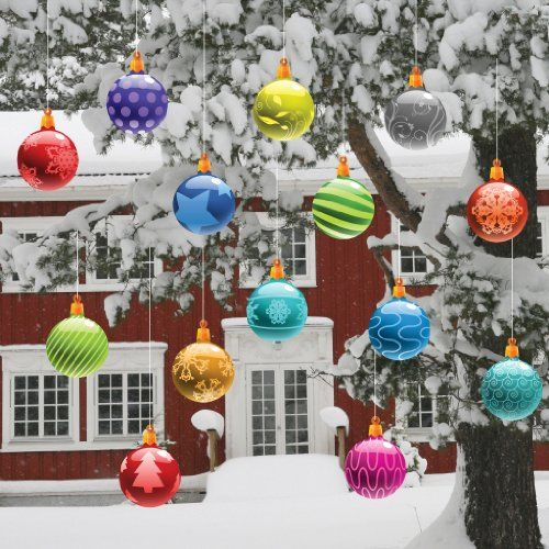 Outdoor Christmas Tree Ornaments