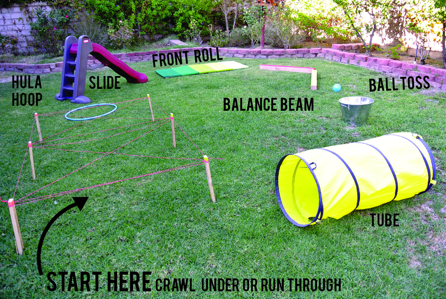 Outdoor Obstacle Course For Kids