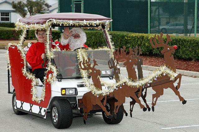 Golf Cart Christmas Decorations