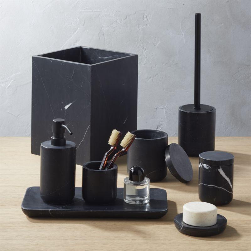 Black Bathroom Set