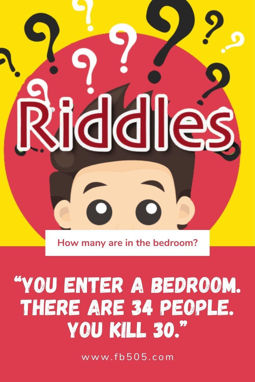 I Enter The Bedroom Riddle