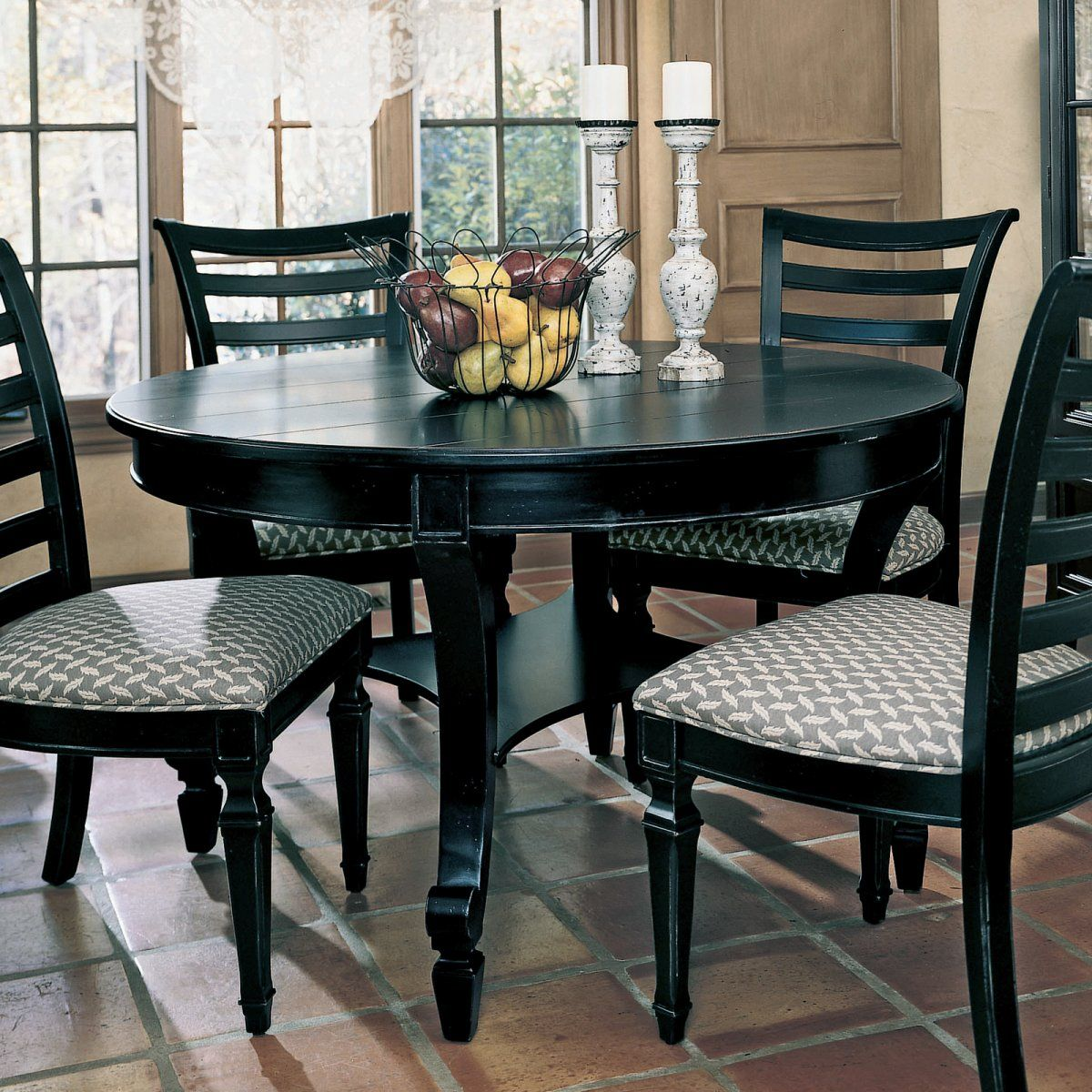 Black Kitchen Table Set