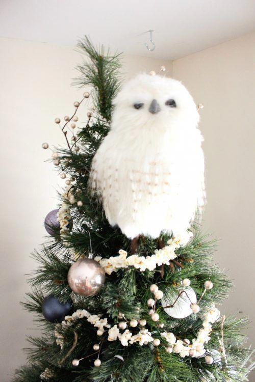Owl In Christmas Tree