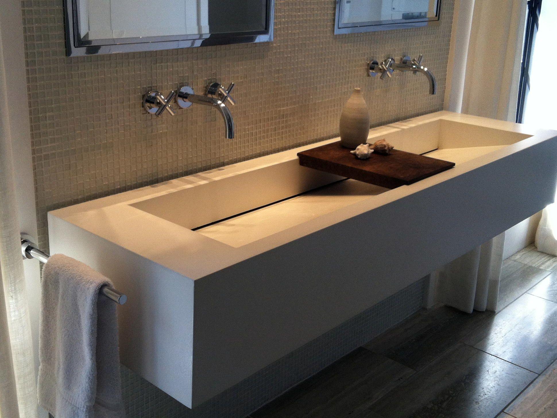 Trough Bathroom Sink