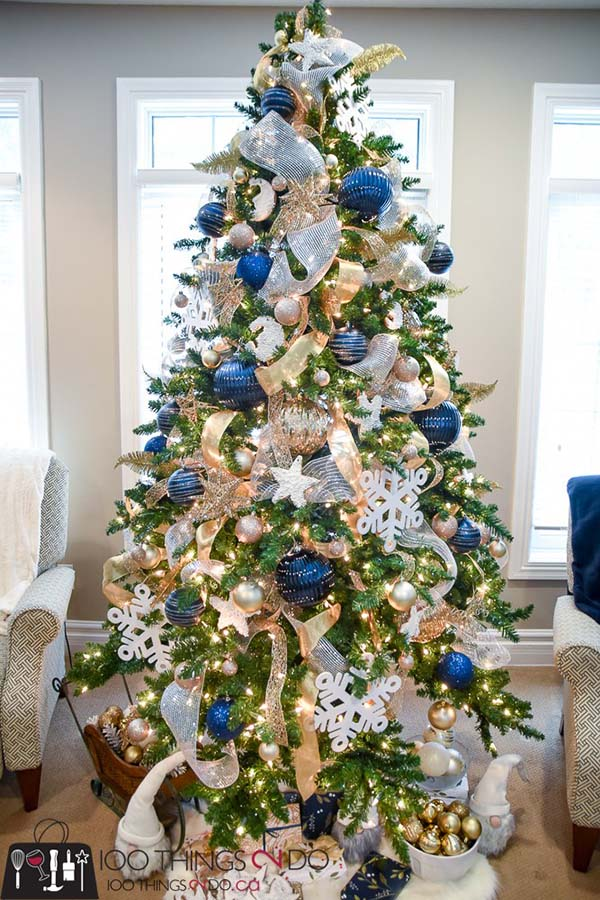 Blue And Gold Christmas Decorations