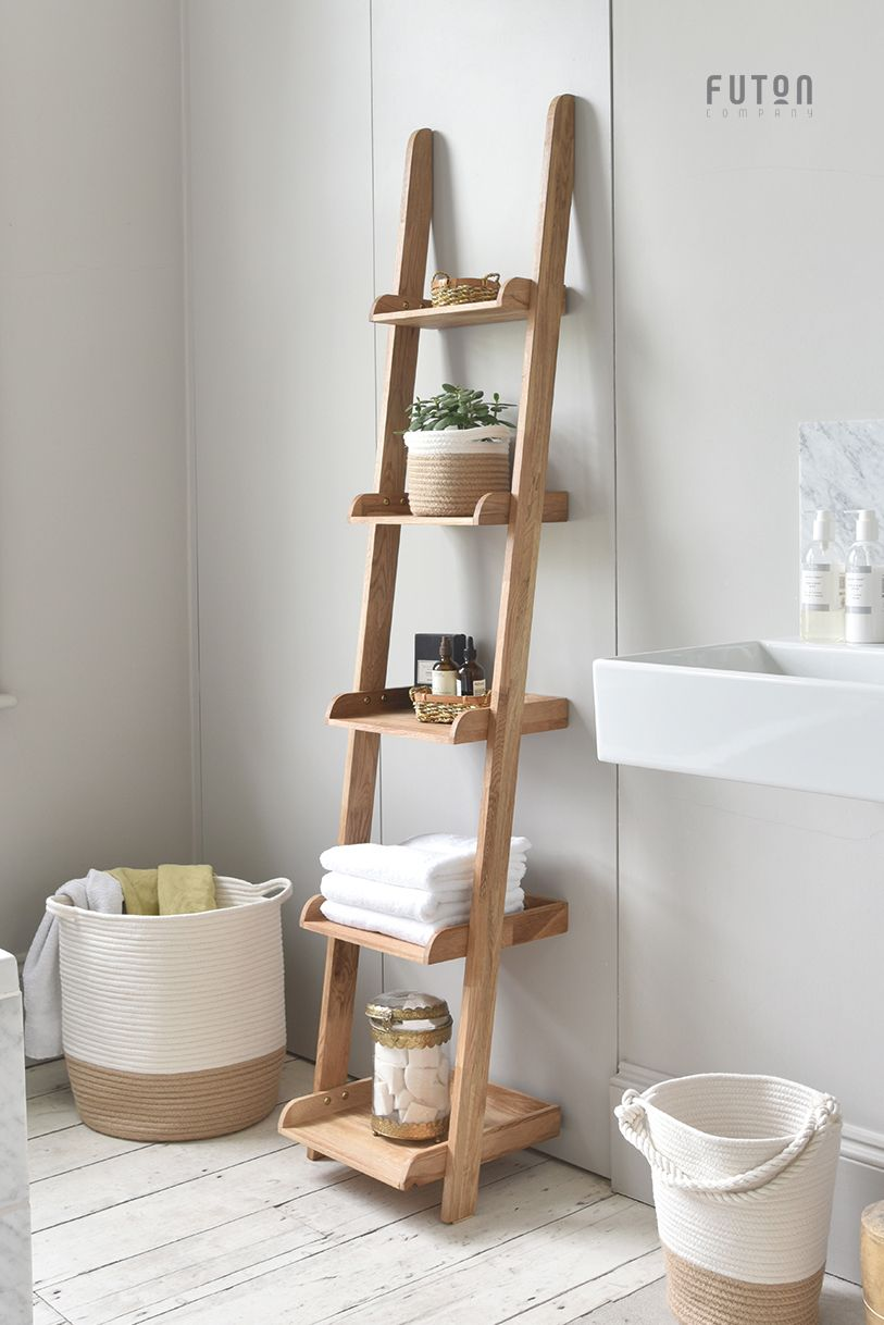 Bathroom Ladder Shelf