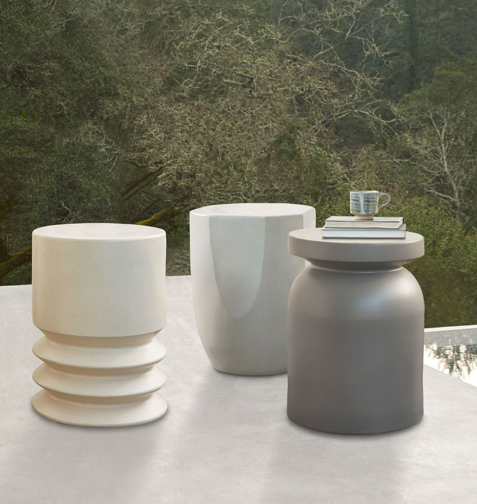 Ceramic Outdoor Side Table